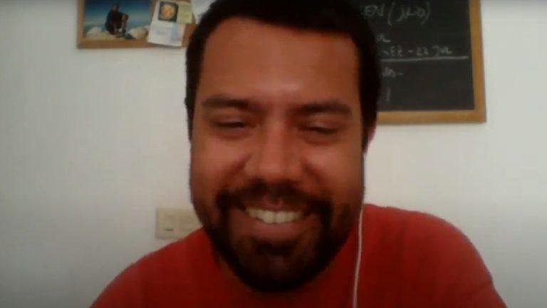 Ardiel Zaya durante la entrevista