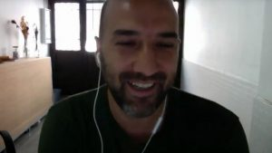 David Macías en un momento de la entrevista