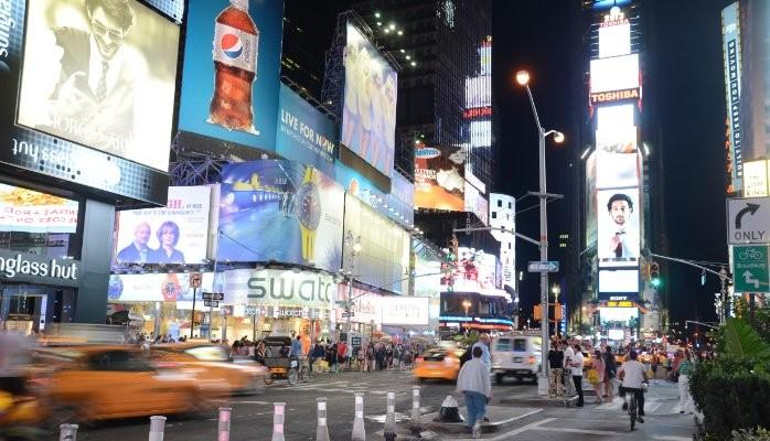 Anuncios en Times Square